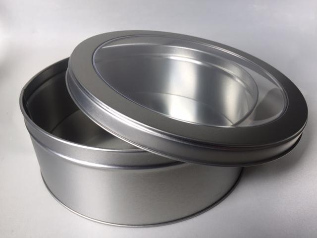 Round Cake Tin w/PVC lid RD SLF227-2