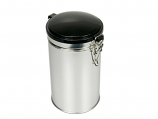 Round Tin w/plastic wire hinged lid RD/BE9133/100
