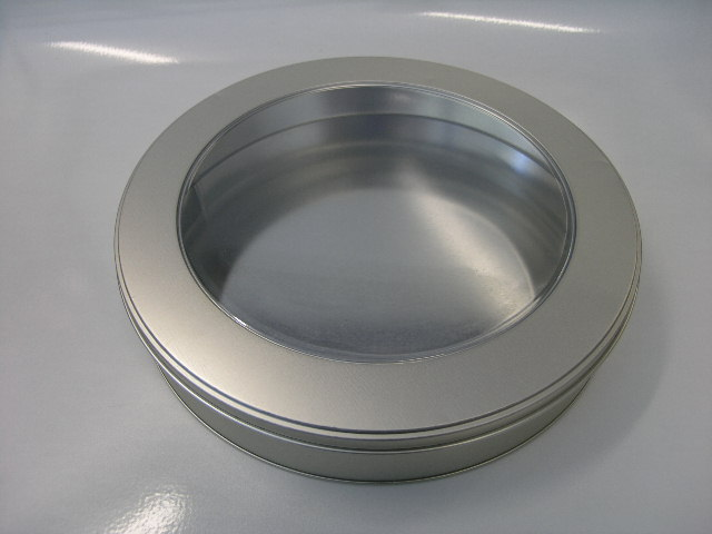 Round Cake Tin w/PVC lid RD197WW (T)