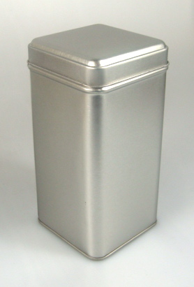Tall Square tin 40 pcs w/slip on lid SQ-GR72 (T)